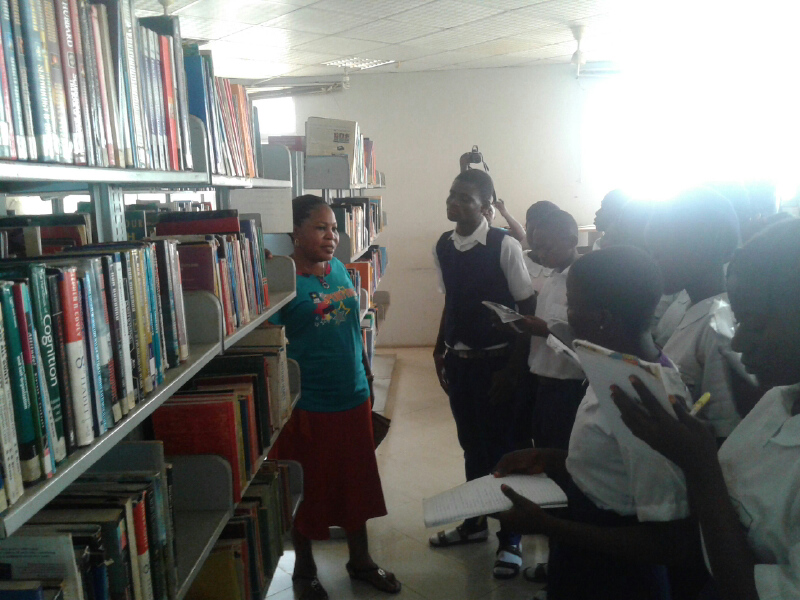 Photo of COMMUNITY BOOK CLUB VISITS LIBRARY