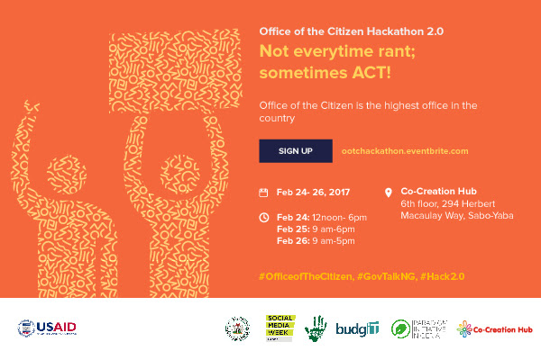 Channel Your Energy and Ideas into Creating Solutions in Your Locality! Participate in the Office Of The Citizen Hackathon 2.0.