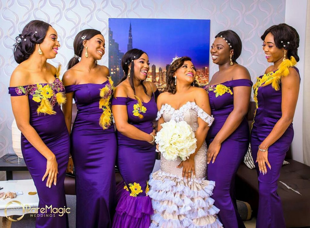 Banke [ 2nd from the Left] as Bridesmaid and Event Planner