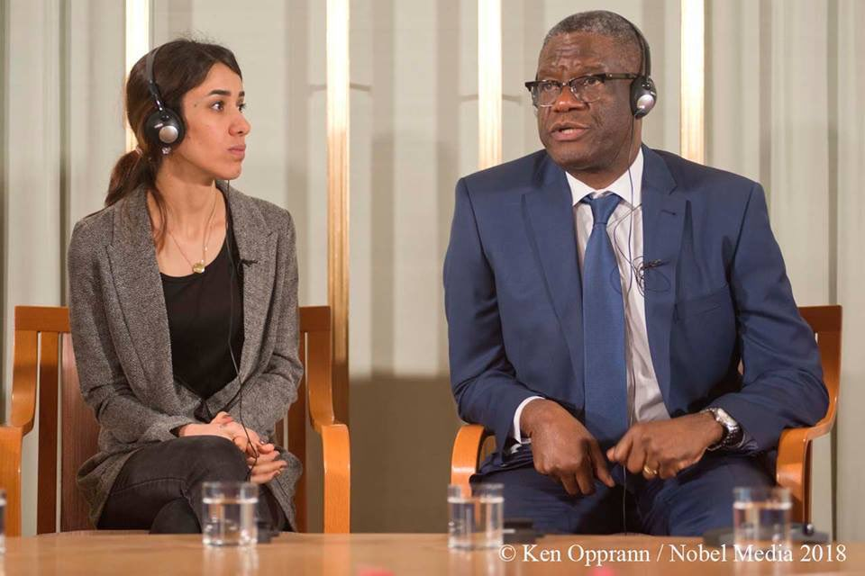 Photo of #EndRapeInWar | Nobel laureates, Dr. Denis Mukwege of Panzi Hospital in Congo and Nadia Murad of Nadia's Initiative, join forces to create Global Survivors Funds for victims of sexual violence in conflicts
